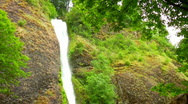 Waterfall Looking Up Slow Motion Stock Footage