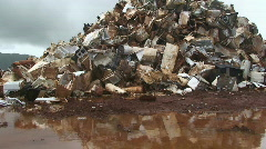 Metal scrap  Stock Footage