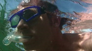 Stock Video Footage of snorkel man