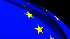 European Union Flag Stock Footage