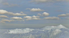 Time-lapse of clouds over ice. Stock Footage