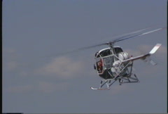 Helicopter, small helicopter stunt pilot Stock Footage