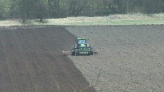 Seed drill sowing 1 - front view Stock Footage
