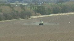 Crop sprayer 5 front view - stock footage