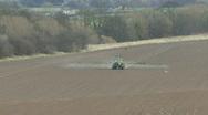 Crop sprayer 5 front view Stock Footage