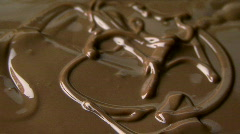 chocolate flow - stock footage