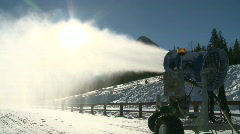 Snow cannon 3 Stock Footage