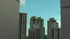 PUBLIC HOUSING IN SINGAPORE Stock Footage