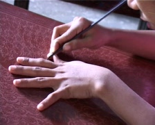 Lacquer manufacture Stock Footage