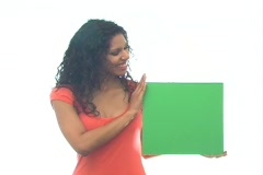 Stock Video Footage of Beautiful Latina with Green Card-1b