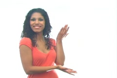 Beautiful Latina Hostess 1-b Stock Footage