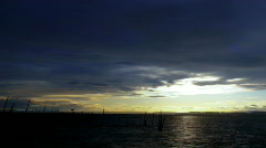 Time lapse sequence of sunset - L´Albufera lake of Valencia Stock Footage