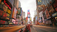 NYC Times Square Day to Night Timelapse Stock Footage