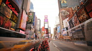 Stock Video Footage of NYC Times Square Day to Night Timelapse