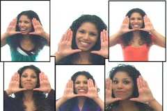 Beautiful Latina 7-composite Stock Footage