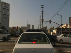 Los Angeles Surface Street Traffic 01 - stock footage
