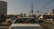 Los Angeles Surface Street Traffic 01 Stock Footage