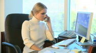 Professional Female Working at Her Desk (2 of 15) Stock Footage