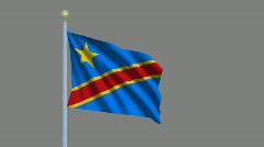 Flag of Flag of the Democratic Republic of the Congo Stock Footage