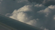 Stock Video Footage of Airline high above the clouds CR