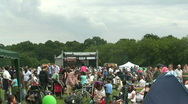 Outdoor concert crowd Stock Footage