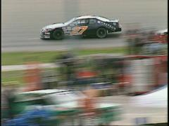 Motorsports, stock car race, from starters cage, #5 Stock Footage