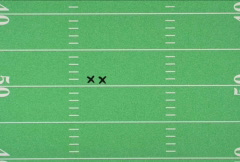 Football Play on White Stock Footage