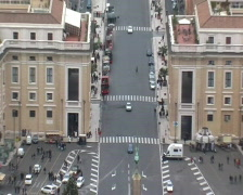 Panorama of Saint Peter's Square. Vatican. - stock footage