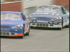 Motorsports, stock car race full lap Stock Footage