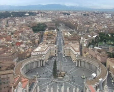 Panorama of Saint Peter's Square. Vatican. Stock Footage