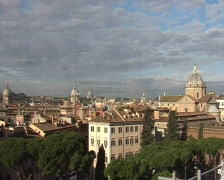 Panorama of Rome from Vittorio Emanuele Monument Stock Footage