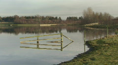 Drowned fence 2 Stock Footage