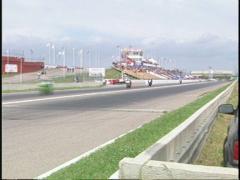 motorsports, superbike race, follow pan - stock footage