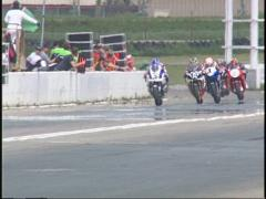 Motorsports, superbike race front straight,  Stock Footage