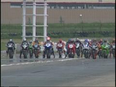 Motorsports, superbike race start Stock Footage