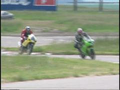 Motorsports, superbike race, chicane, #2 Stock Footage