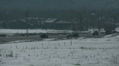 Highway winter CR Stock Footage