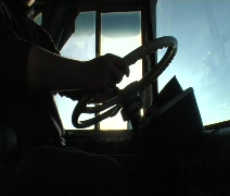 Driving a Bus 02 Stock Footage