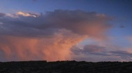 Stock Video Footage of Storm clouds at sunset