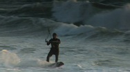 Stock Video Footage of Kite Surfing