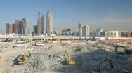 Construction site in Dubai Stock Footage