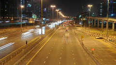 Highway in Dubai at night - stock footage