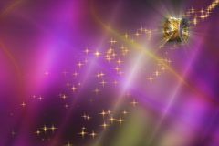 Wedding Motion Background -- Purple Yellow Rings Sparklers 4x3 NTSC - stock footage