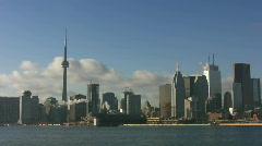 Toronto skyline. Timelapse Stock Footage
