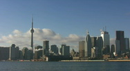 Stock Video Footage of Toronto skyline. Timelapse