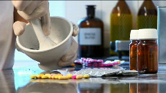 Pharmacy procedures - stock footage