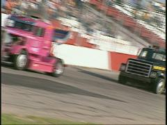 Motorsports, Big Rig race dutch tilt Stock Footage