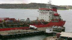 Oiltanker in the Caracasbay Stock Footage