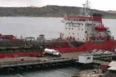 Oiltanker in the Caracasbay NTSC Stock Footage
