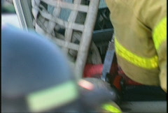 Jaws of life cutting through race truck after accident, #1 Stock Footage